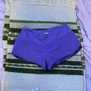 Lululemon Athletica purple blue speed shorts